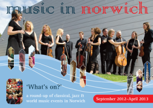 music in norwich programme cover