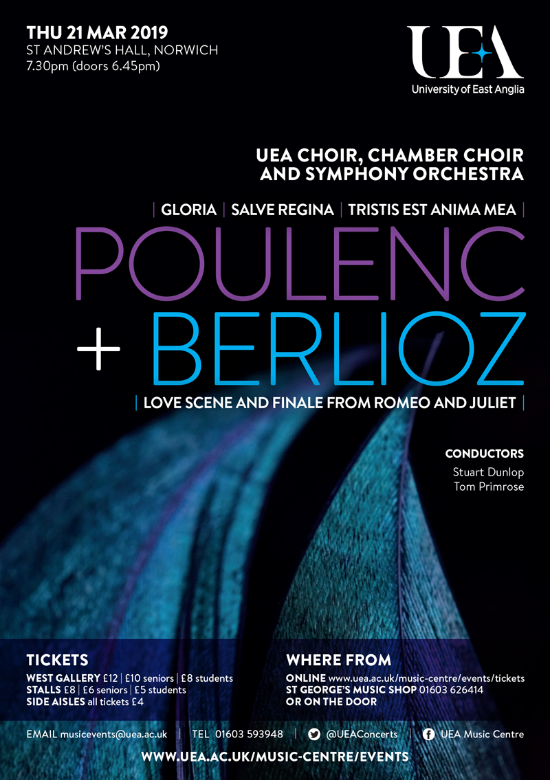 Poulenc and Berlioz concert by UEA Music