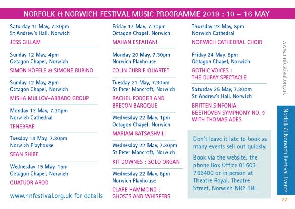 MiN Spring 19 NNFestival events